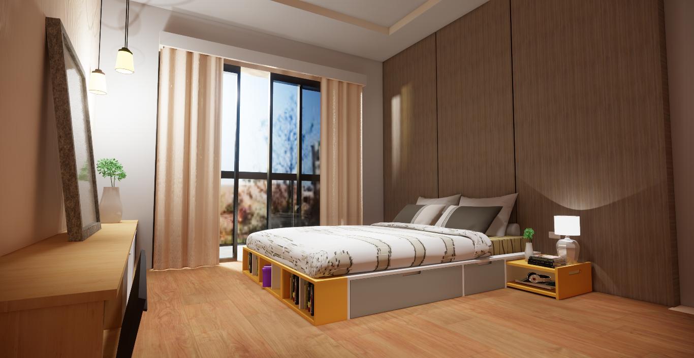 giường ngủ ngăn kéo phong cách